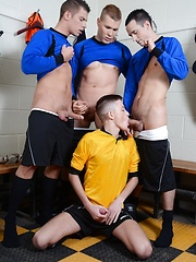 Cute Twink Gets Three Cocks For The Price Of One - Not To Mention Oodles Of Pent-Up Cum!, Added: 2017-05-15 by Staxus