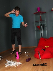 Horny twink couple get their kink on with spanking, Added: 2012-02-14 by RedAssTwink