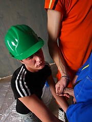 Horny construction twinks have a big empty room to fuck in, Added: 2012-05-26 by UCBoys