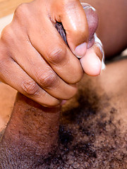 Bishop jacking off his black cock and shoots a load, Added: 2012-11-25 by Cocodorm