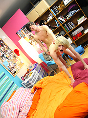 Two very handsome and well mounted twinks fucking madly!, Added: 2012-12-09 by LollipopTwinks