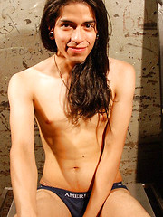 Long Haired Latino Twink, Added: 2013-06-20 by Alternadudes